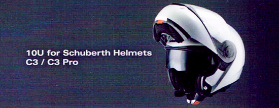 SENA 10U - Bluetooth 4.0 Headset completely built into special helmets of Schuberth, like C3 and C3 Pro