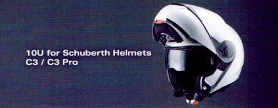 SENA 10U - Bluetooth 4.0 Stereo Headset mit Interkom speziell f�r Schuberth Helme wie C3 und C3 Pro