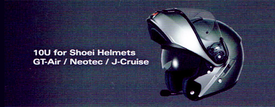 SENA 10U - Bluetooth 4.0 Headset completely built into special helmets of Shoei, like GT-Air, Neotec and J-Cruise
