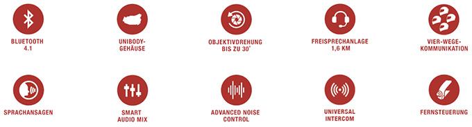 SENA 10C - Bluetooth 4.0 Stereo Headset mit integrierter Kamera für Motorräder