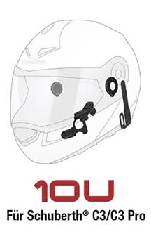 SENA 10U - Bluetooth 4.0 Stereo Headset mit Interkom speziell für Schuberth C3 und C3 Pro Helme