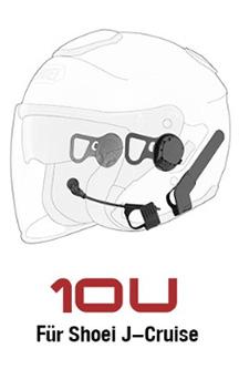 SENA 10U - Bluetooth 4.0 Stereo Headset mit Interkom speziell für Shoei J-Cruise Helme