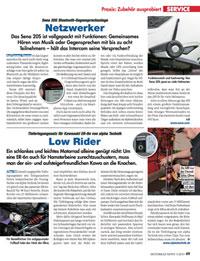 Artikel über das Sena 20S aus der Zeitschrift Motorrad News als PDF download