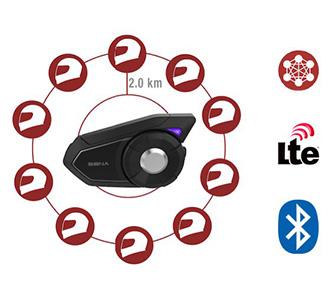 Sena 30K Adaptives Bluetooth Mesh-Netzwerk Kommunikationssystem - Mehr Verbindungsmöglichkeiten für Fahrer überall