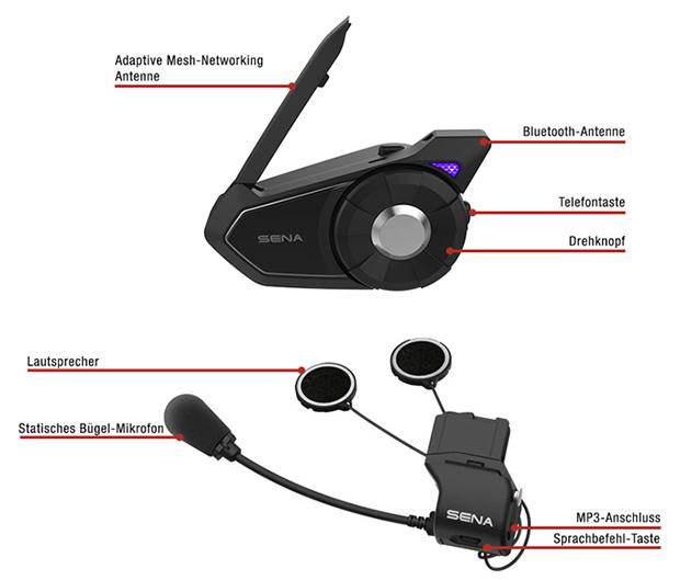 Details des Sena 30K Adaptives Bluetooth Mesh-Netzwerk Kommunikationssystem
