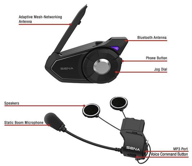 Details of the Sena 30K Adaptive Bluetooth Mesh-Networking Communication System