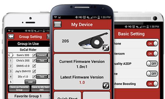 SPH20s Bluetooth 4.0 Stereo Multipair Headset mit Intercom Bluetooth Sprechanlage für Motorradfahrer