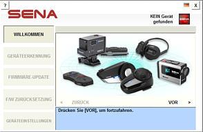 SENA Firmware Updates für alle Produkte und Sprachauswahl für die Sprachausgabe über den SENA Device Manager, Download, Anleitungen