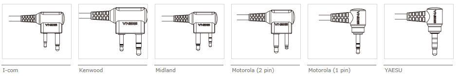 SR10 PPT optionale Stecker für Funkgeräte