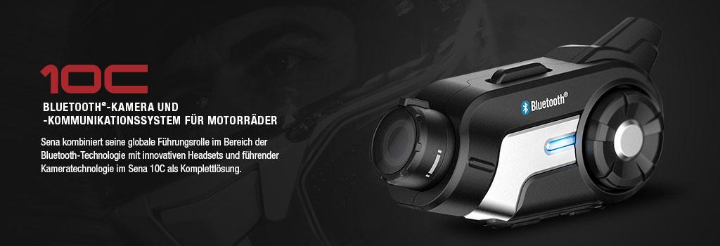 SENA 10C Bluetooth 4.0 Stereo Headset mit Intercom und integrierter Action Kamera für Motorradfahrer