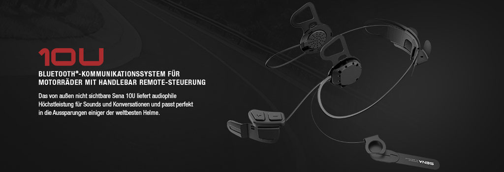 SENA 10U Bluetooth 4.0 Stereo Headset mit Intercom speziell für Helme von Schuberth, Shoei und Arai