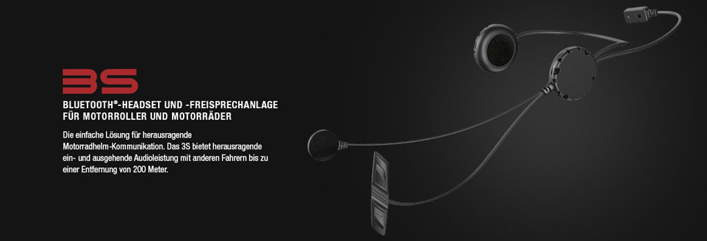 SENA 3 Bluetooth 3.0 Stereo Headset mit Intercom f�r Motorradfahrer