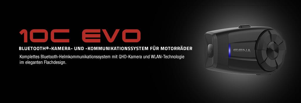 Sena 10C EVO Bluetooth QHD-Kamera und Kommunikationssystem f�r Motorr�der mit WLAN Technologie