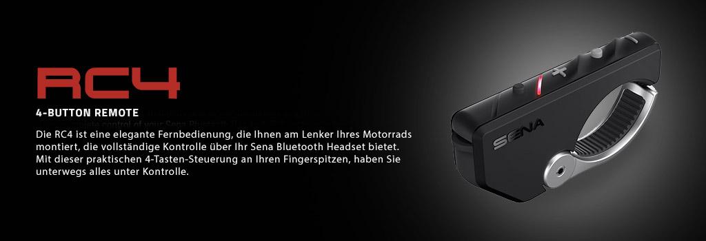 Sena RC4 Bluetooth 4-Tasten Fernbedienung für die Sena Headsets 20S, 10U, 10C, 10R und 10S