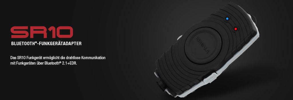 SR10 Bluetoothadapter verbindet jedes Bluetooth Headset auch mit Standard Handfunkgeräten, welche kein Bluetooth eingebaut haben