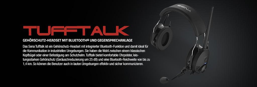 Sena Tufftalk Gehörschutz-Headset mit Bluetooth und Gegensprechanlage