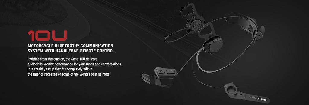 SENA 10U Bluetooth 4.0 Stereo Headset mit Intercom speziell f�r Helme von Schuberth, Shoei und Arai