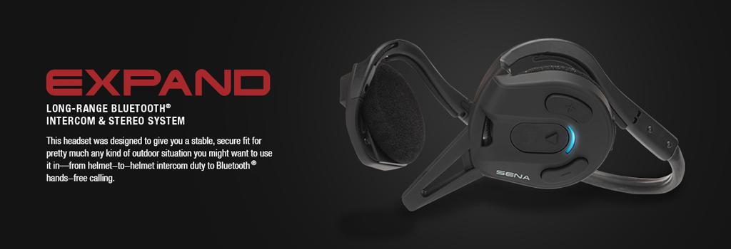 SENA EXPAND Stereo Bluetooth Headset - Für Sportler sowie professionelle Anwender in der Industrie und Sicherheitsdiensten