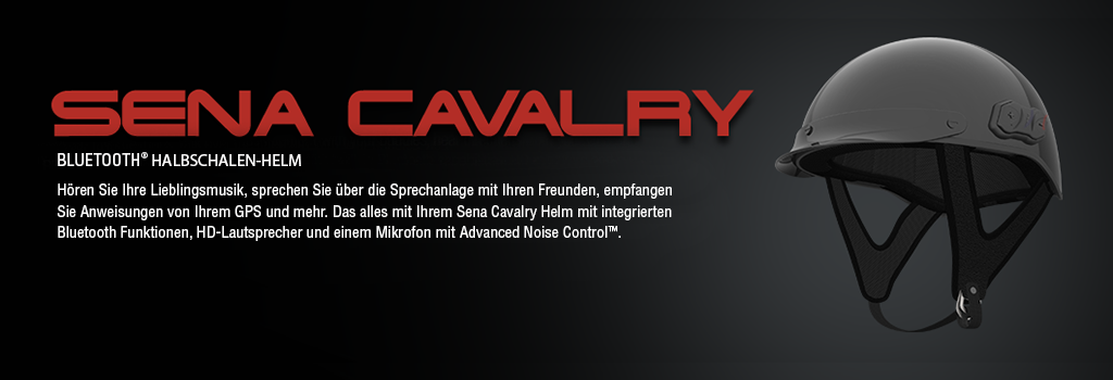 er Sena Cavalry ist ein Halbschalenhelm mit eingebautem Bluetooth Headset für die Nutzung auf dem Fahrrad, beim Pferdesport und andere Aktivitäten