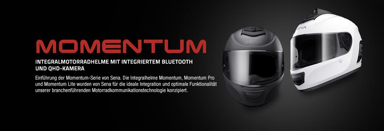 Sena Integralhelme der Momentum Serie mit integriertem Bluetooth - Momentum, Momentum Lite und Momentum Pro