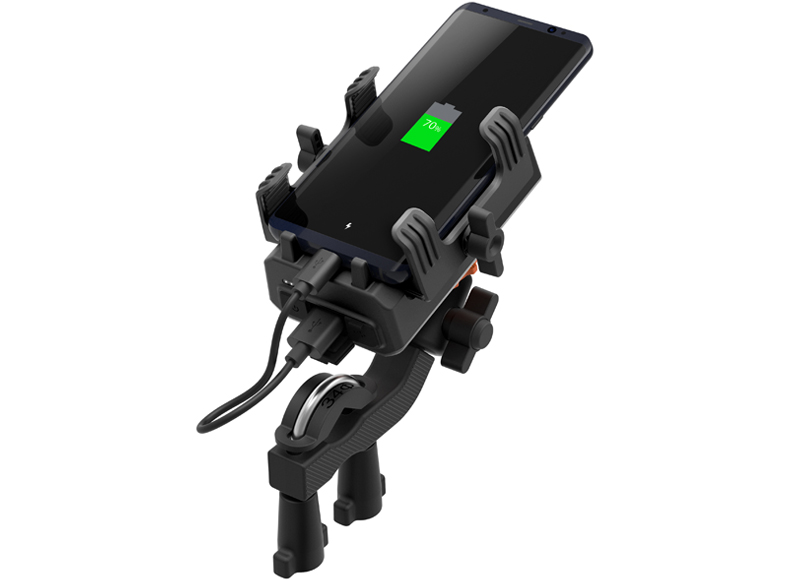 Sena PowerPro Mount - Handlebar mount with integrated portable battery pack - Photo 2