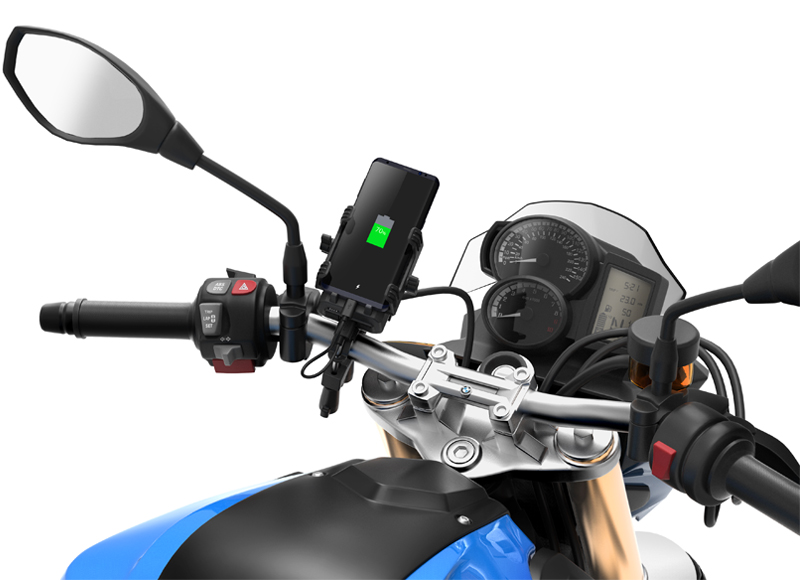 Sena PowerPro Mount - Handlebar mount with integrated portable battery pack - Photo 1