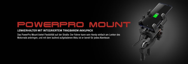 Sena PowerPro Mount - gleichzeitig ein innovatives tragbares Ladegerät und ein praktischer Lenkerhalter fürs Handy