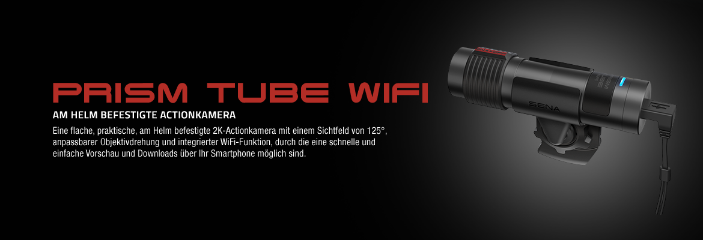 Sena Prism Tube Wifi, am Helm befestigte Action-Kamera mit Wifi