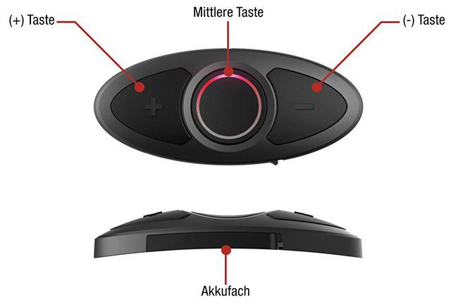 Sena RC3 Bluetooth 3-Tasten Fernbedienung für die Sena Headsets 20S, 10U, 10C, 10R und 10S