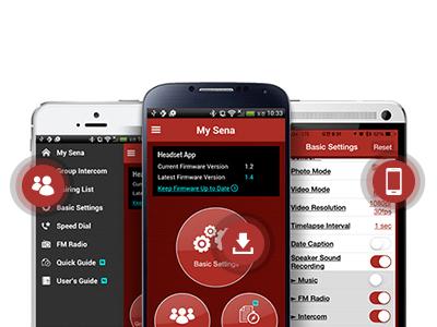 Sena Savage offener Jet-Helm mit integriertem Bluetooth und eingebauten HD-Lautsprechern - Mit der Headset-App von Sena bleiben Sie in Verbindung