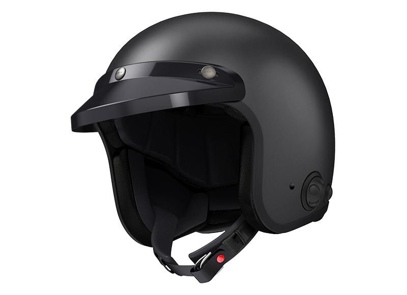 Sena Savage offener Jet-Helm mit integriertem Bluetooth und eingebauten HD-Lautsprechern Foto 7
