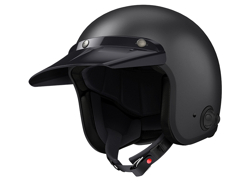Sena Savage offener Jet-Helm mit integriertem Bluetooth und eingebauten HD-Lautsprechern Foto 6
