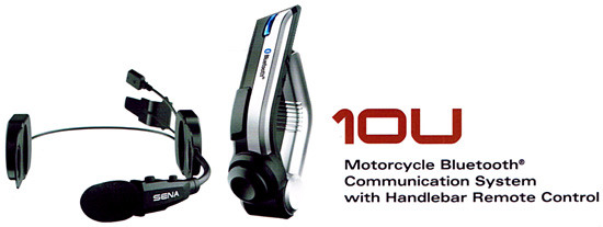 SENA 10U - Bluetooth 4.0 Headset completely built into special helmets of Schuberth, Shoei and Arai