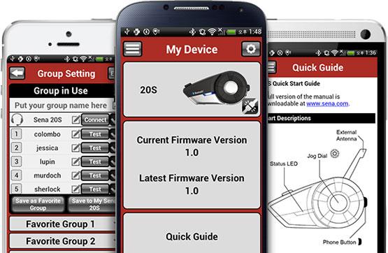 Sena Smartphone-App für das 20S