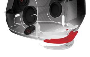Sena Smart Helm mit integrierter, elektronischer Geräuschreduzierung sowie optionaler Bluetooth Interkom Anlage - Intelligent Noise-Control