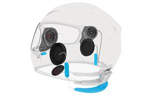 Sena Smart Helm mit integrierter, elektronischer Geräuschreduzierung sowie optionaler Bluetooth Interkom Anlage - Plug and Play