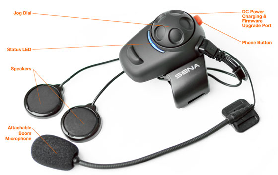 SENA SMH5 Bluetooth v3 Class 1 Stereo Multipair Headset mit Intercom Bluetooth Sprechanlage Details