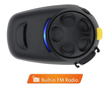 SMH5-FM Bluetooth v3 Class 1 Stereo Multipair Headset mit Intercom Bluetooth Sprechanlage und integriertem FM Radio