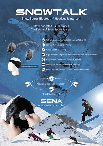 Details of the SENA Snowtalk Bluetooth 3.0 Headset for Snow Sports