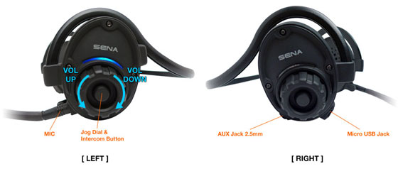 SPH10 Bluetooth v2.1 Class 1 Stereo MultipairHeadset mit Intercom Bluetooth Sprechanlage Details
