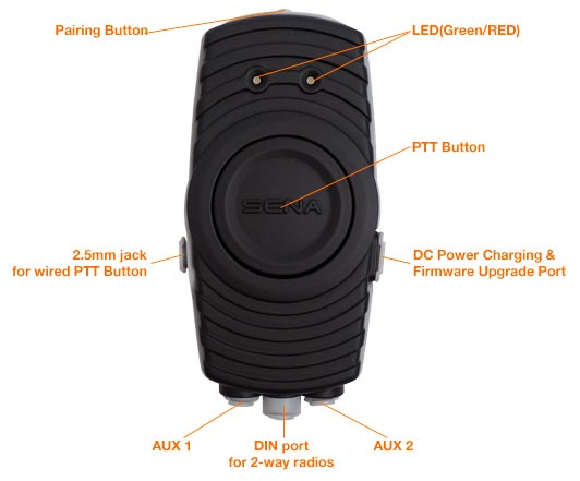 SR10 Bluetoothadapter for two way radios Bluetooth v2.1 Class 1 PTT (Push-To-Talk) Adapter Details